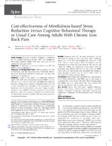 Alternative Therapies for Chronic Low Back