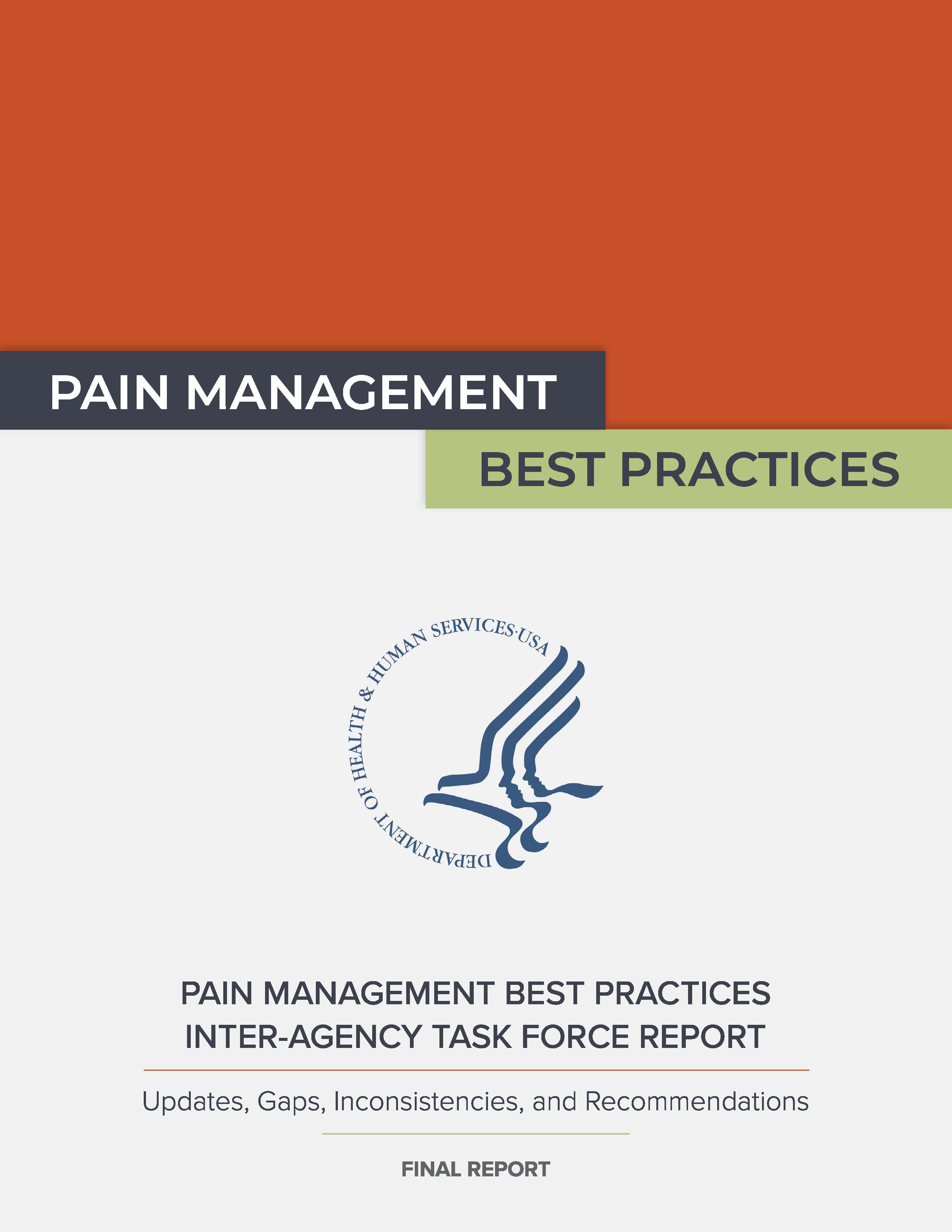 HHS 2019 Pain Management Best Practices